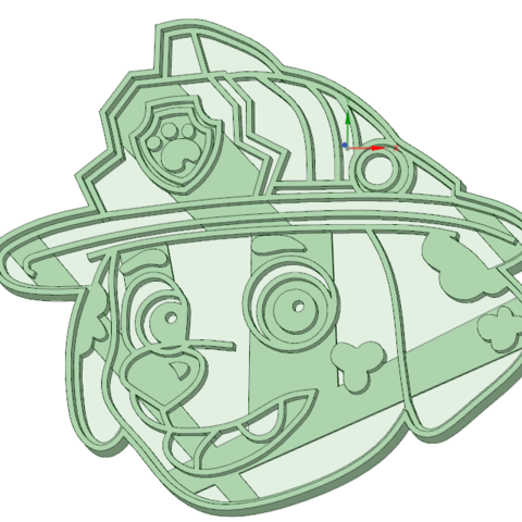 3D printing model Marshal Paw Patrol cookie cutter, osval74