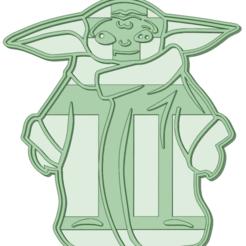 BY2_e.png Télécharger fichier STL Bébé Yoda 3 moule à biscuits • Design à imprimer en 3D, osval74
