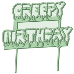 Download STL Creepy Birthday cake topper, osval74