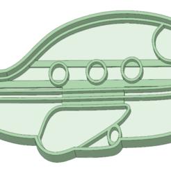 Modelos 3D para imprimir Avion cookie cutter, osval74
