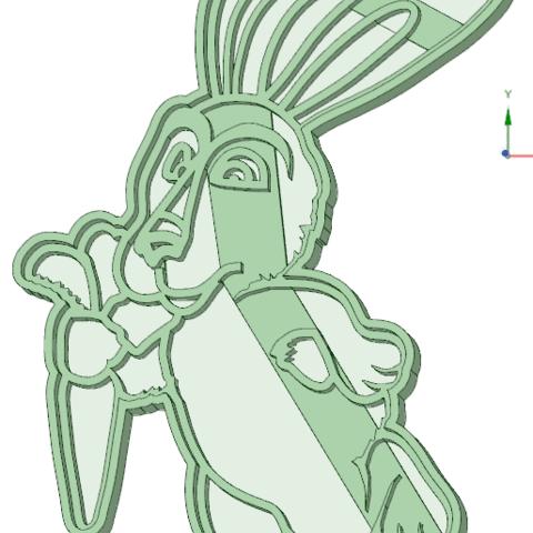 3D printer files Rabbit Masha and Bear cookie cutter, osval74