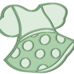 Vestido_e.png Download STL file Dress Minnie cookie cutter • Template to 3D print, osval74