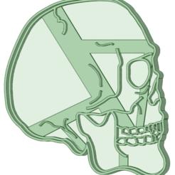 Descargar diseños 3D Craneo cookie cutter, osval74