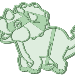 Dino 9_e.png Download STL file Dinosaurio 9 cookie cutter • 3D printable model, osval74