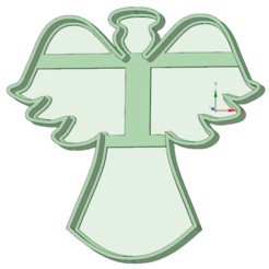STL files Angel cookie cutter, osval74