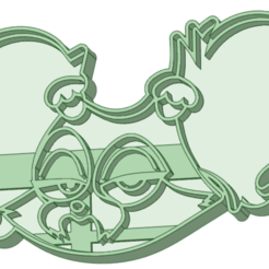 9_e.png Download STL file Puppy dog 9 cookie cutter • 3D printable object, osval74