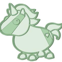 Unicornio.png Download STL file Unicorn Cookie Cutter • 3D printer template, osval74