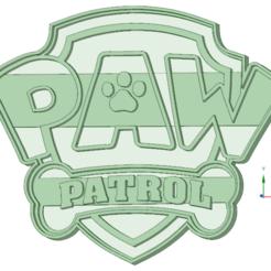 Descargar modelos 3D Paw Patrol escudo cookie cutter, osval74