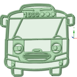 4_e.png Download STL file Tayo little Bus 4 cookie cutter • Template to 3D print, osval74