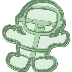 Astronauta nene_e.png Download STL file Astronautite cookie cutter • Model to 3D print, osval74