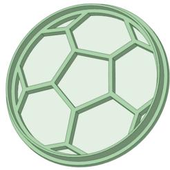 Descargar diseños 3D Pelota de futbol cookie cutter, osval74
