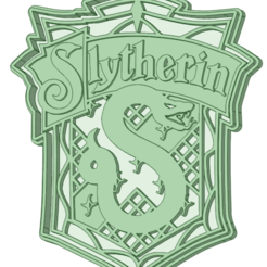 Download STL Slytherin Harry Potter cookie cutter, osval74