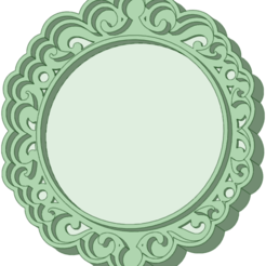 Marco_5_e.png Download STL file Vintage frame 5 cm cutter • 3D printable template, osval74