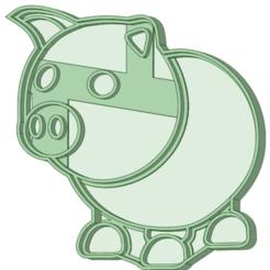 Pig_e.png Download STL file Pig Cookie Cutter • 3D print design, osval74