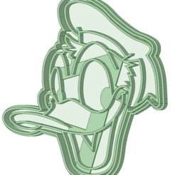 Donald_e.png Download STL file Donald cookie cutter • 3D print object, osval74