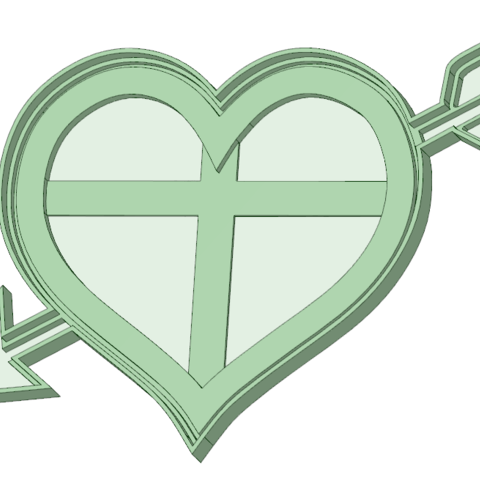 Download STL files Arrowed heart cookie cutter, osval74