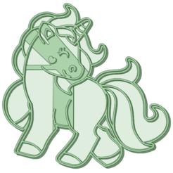 Download STL file Unicorn 11 Cookie Cutter • 3D printer model, osval74
