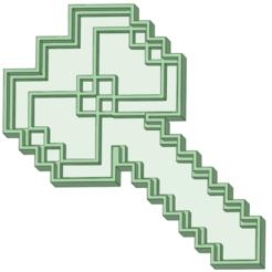 Descargar archivos 3D Hacha Minecraft cookie cutter, osval74