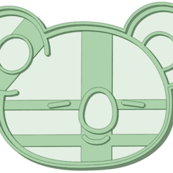 koya.png Download STL file BT21 Koya cookie cutter • 3D printer design, osval74