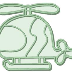 Descargar diseños 3D Helicoptero cookie cutter, osval74