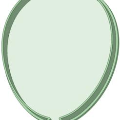 Globo_e.png Télécharger fichier STL Coupe-biscuits en forme de ballon • Objet pour impression 3D, osval74