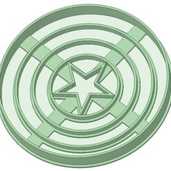 Descargar archivo 3D Escudo Capitan America, osval74