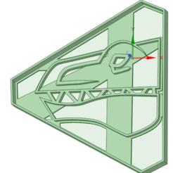 Descargar archivo 3D Green Dino Charge Ranger Cookie cutter, osval74