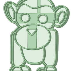 Monkey_e.png Download STL file Monkey Cookie Cutter • Model to 3D print, osval74