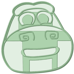 Cocodrilo_D.png Download STL file Crocodile Dante Songs of the Zoo Cookie Cutter • 3D printable template, osval74