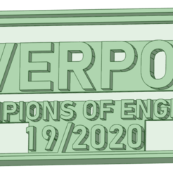 cartel_e.png Download STL file Liverpool championship 19/20 cookie cutter • 3D print object, osval74