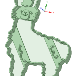 stl files Alpaca cookie cutter, osval74