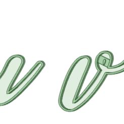 Archivos STL tuvw cursiva cookie cutter, osval74