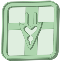 5_e.png Download STL file Final Fantasy 5 cookie cutter • Template to 3D print, osval74