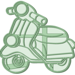 Vespa_e.png Download STL file Vespa cookie cutter • 3D printing template, osval74