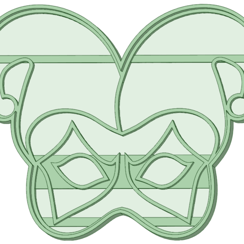 3D print files Arlequin cookie cutter mask, osval74