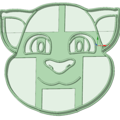 Descargar archivos 3D My talking Tom cookie cutter, osval74