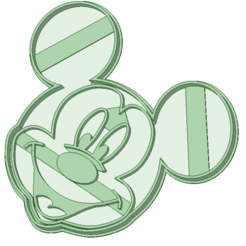 3D printing model Mickey cookie cutter, osval74