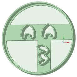 3D print files Emoji beso cookie cutter, osval74