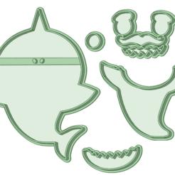 8_e.png Télécharger fichier STL Bébé requin 8 Coupe fondante • Modèle à imprimer en 3D, osval74