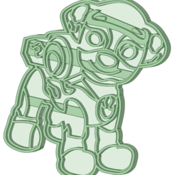 Marshall_e.png Download STL file Marshall Rocky Mighty Pups cookie cutter • 3D printing design, osval74