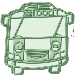 1_e.png Download STL file Tayo Bus 1 cookie cutter • 3D print design, osval74