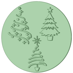 Arboles_e.png Download STL file Stamp Christmas tree 6cm • Design to 3D print, osval74