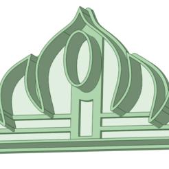 Download STL file Frozen Fondant Cutter Crown • 3D print template, osval74