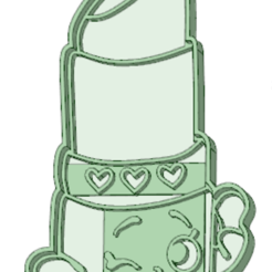 STL Labial shopkins cookie cutter, osval74