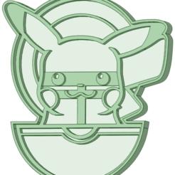 Télécharger plan imprimante 3D Emporte-pièce Pikachu en boule, osval74