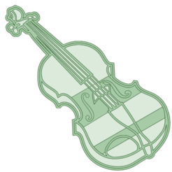 Violoncello - copia.png Download STL file Violoncello cookie cutter • Object to 3D print, osval74