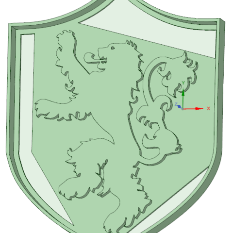 STL file Lannister cookie cutter, osval74