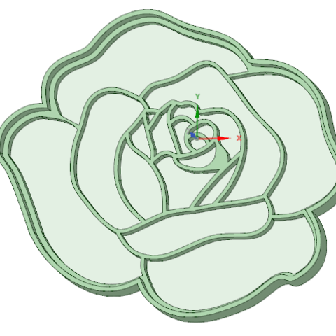 3D printing model Rose 1 cookie cutter, osval74
