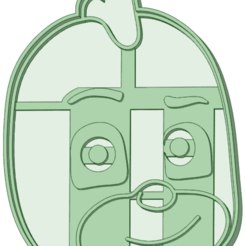 Download 3D printing designs Gekko cara cookie cutter PJ Mask, osval74