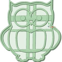 3D printer files Owl 1 cookie cutter, osval74